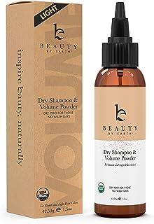 Organic Dry Shampoo Light - Dry Shampoo Travel Size, Hair Powder Dry Shampoo for Women and Men, Volumizing Powder for Hair...