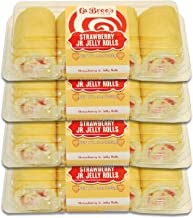 Junior Cake Rolls - 4 Packages (Strawberry Jelly)