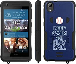 Flak Jacket Dual Armor with Kick-stand Phone Cover, Keep Calm and Play Ball - Tampa Bay - Mobiflare HTC Desire 626 Flak Jacket Dual Armor with Kick-stand Phone Case