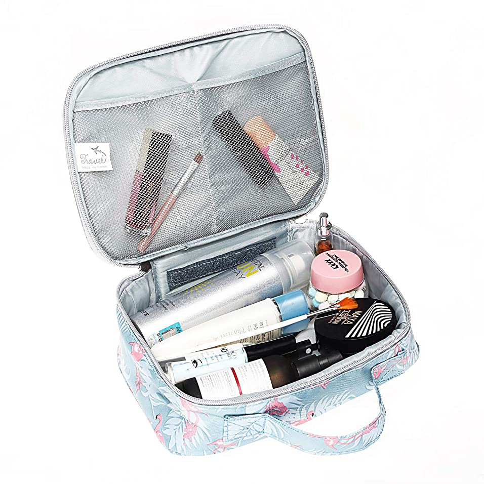 遠え垂直遮るメイクボックス 化粧ポーチ メイクバッグ 高品質 機能的 大容量 化粧箱 コスメボックス トラベルバッグ 化粧バッグ 化粧品収納 仕切り 旅行用 軽量 持ち運び 使いやすい 化粧道具 小物入れポーチ 可愛い