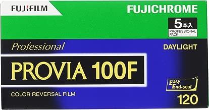 FUJIFILM Fujichrome Provia 100F Professional RDP-III Color Transparency Film (120 Roll Film, 5 Pack)