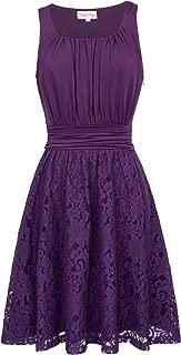 Belle Poque 1950s Vintage Cockatil Dress Sleeveless A line Lace Retro Dress BP291