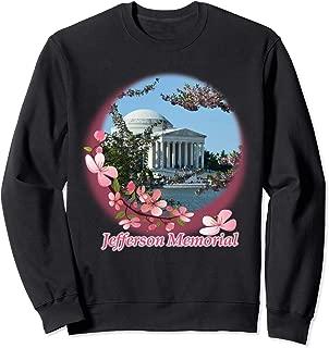 Jefferson Memorial Cherry Blossoms Washington DC Souvenir Sweatshirt