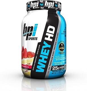 BPI Sports Whey Hd Ultra Premium Protein Powder, Strawberry Cake, 1.7 Pound