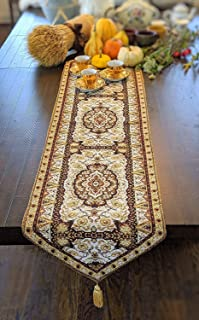 gold table runner with tassel