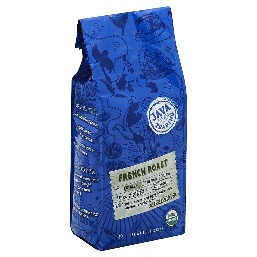 Java Trading Company Organic Ground Coffee, French Roast, 10 Oz