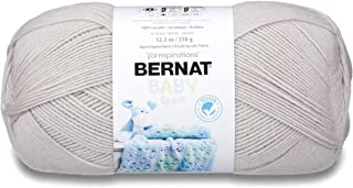 Bernat Baby Big Ball Sport Yarn, 12.3 oz, Gauge 3 Light, 100% Acrylic, Baby Grey