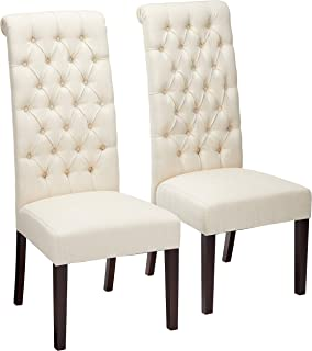 Best tall upholstered dining chairs Reviews
