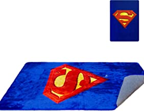 DC Comics Superman Shield 48'' x 72'' Rug - Superman Logo - Red & Blue - Officially Licensed - Super Soft & Thick Surface - 100% Polyester