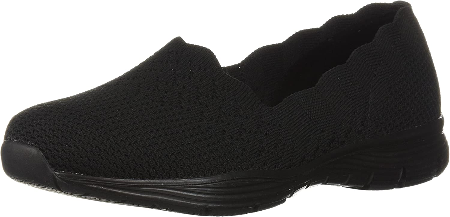 2021 autumn and winter new Skechers Women's Seager-Stat-Scalloped Skech- Collar Engineered List price