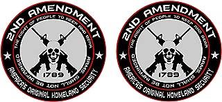 2x 2nd Amendment - America's Original Homeland Security Round Bumper Sticker Decal (5 Inch)