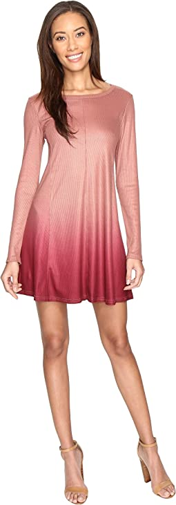 Culture Phit - Leighton Long Sleeve Ombre Dress