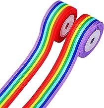 Rainbow Stripe stampato Cartoon DIY accessori per capelli arcobaleno nastro grosgrain 7//20,3/cm 22/mm