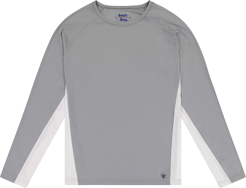 Beach Bros. Men's UPF 50+ Swim Shirt - Long Sleeve Quick Dry Rashguard