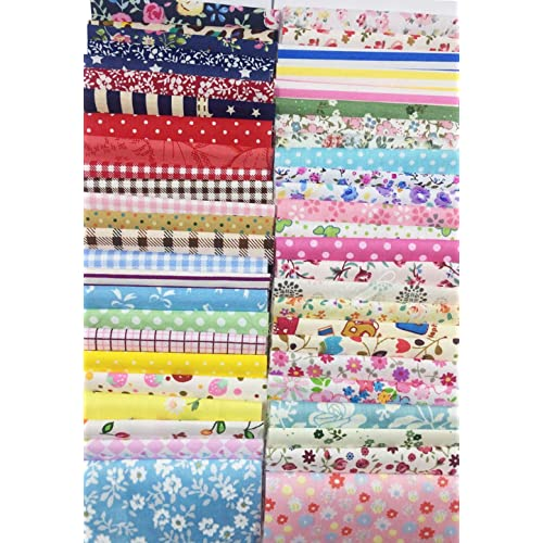 levylisa 100 Pieces 6 x 6100/% Printed Cotton Quilting Fabric Patchwork Precut Fabric Quilt Squares DIY Sewing Quarter Bundle Fabric for DIY Craft Embellishment Sewing Scrapbooking Quilting