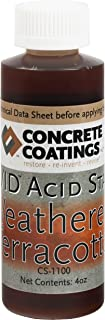 VIVID Acid Stain - 4oz - Weathered Terracotta (Red/Orange Terra Cotta)