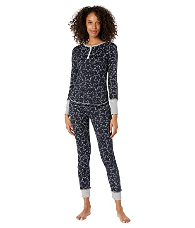 Splendid Cozy Thermal PJ Set (Festive Sky/Navy Blazer) Women