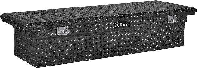 UWS EC10473 69-Inch Matte Black Heavy-Wall Aluminum Truck Tool Box with Low Profile, RigidCore Lid