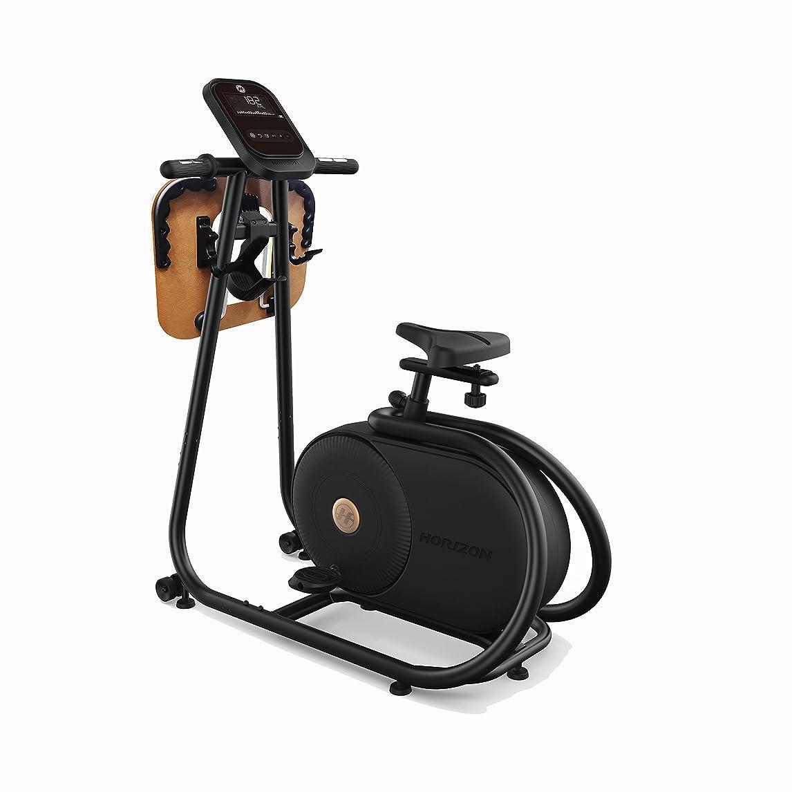 海上着実に過度のHorizon(ホライズン) フィットネスバイク アップライトバイク Citta BT5.0 ビーティー5.0 デスクトレイ付き スタイリッシュ コンパクト