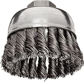 Stainless Steel 304 2-3//4 Diameter 0.020 Wire Diameter Walter 13C180 Knot Twisted Mounted Wire Brush 20000 Maximum RPM