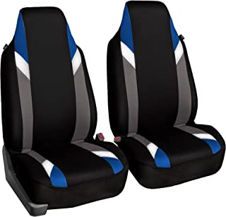 FH Group FB133102 Premium Modernistic Seat Covers Blue/Black- Fit Most Car, Truck, SUV, or Van