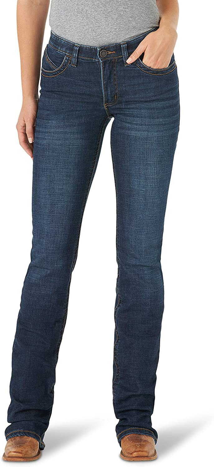 Wrangler Women's Willow Mid Rise Boot Cut Ultimate Riding Jean