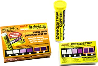 Phoenix Systems (3006-B) Brake Fluid Test Strip Kit, 100 Test Strips and 100 Rating Cards, BrakeStrip, FASCAR