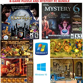 8 Puzzle and Mystery Games Bundle for PC: Moonlight, Sky Kingdoms, Amanda Rose: The Game of Time, Echoes of Sorrow, Mysteries of Horus, Quest of Fate and Many More!