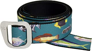 Defender Aluminum Slide Web Belt in Colorful Patterns Made in USA by Thomas Bates