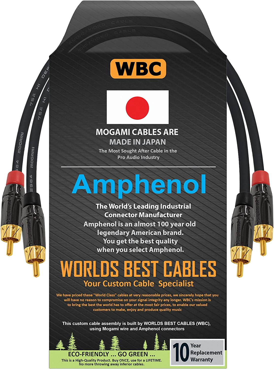 Direct sale of manufacturer Sale special price 0.5 Foot – High-Definition Audio CU Cable Interconnect Pair