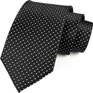 ربطة عنق منسوجة بنمط نسيج قطني منقوش بنمط مربعات مربعات من Elfeves للرجال