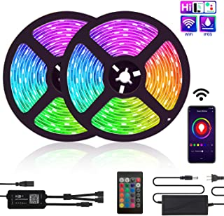 LED Strip Lights, TATUFY WiFi 32.8ft/10M 300LEDs Color Changing Rope Lights 5050 RGB Light Strips with Alexa Google APP Controller, Waterproof Tape Lights Sync with Music Apply for Home Kitchen