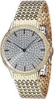 57389f2b33 Yves Camani – Montre Femme Garonne avec boîtier en acier inoxydable plaqué  or et argenté avec
