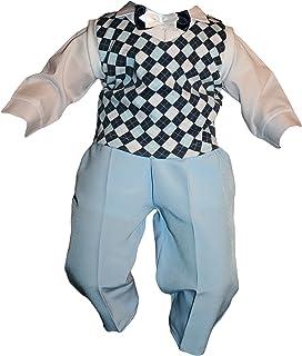 Niño Traje 5tlg Azul Cuadros taufanzug bebé niño niños Bautizo Traje boda trajes fijo Traje multicolor