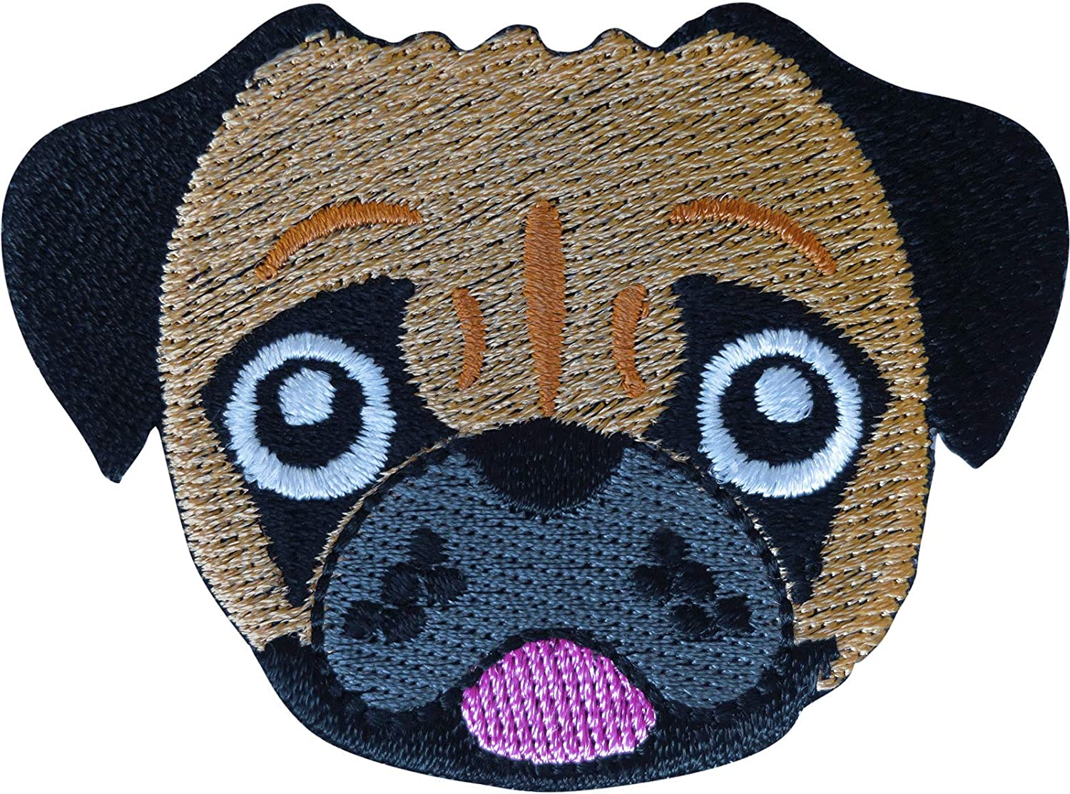 Boxer Bulldog Pug Patch Bargain Iron Sew Dog Free shipping on posting reviews Embroidered On Bag Clothes