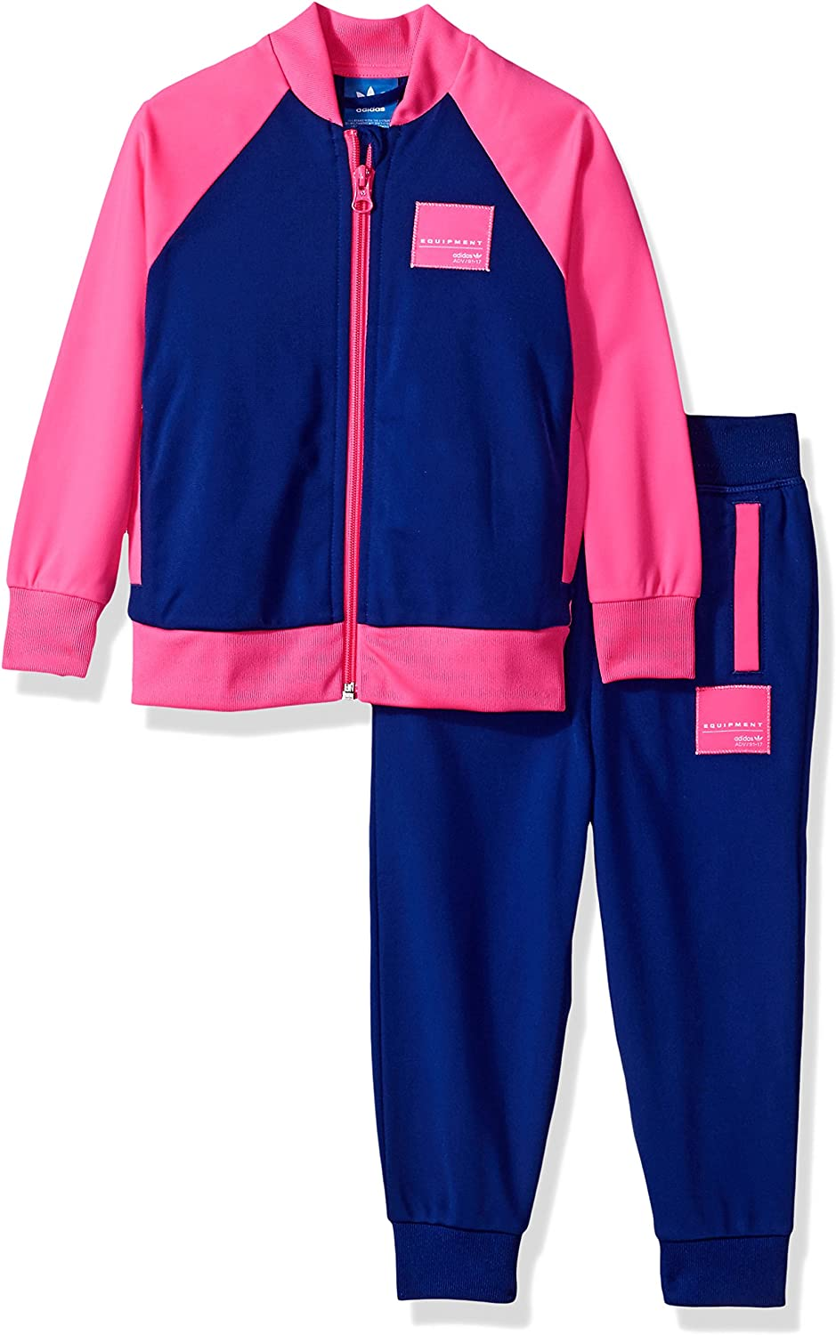 adidas Originals Baby Girls Infant A surprise price is realized Set Sweatshirt Same day shipping EQT Pant