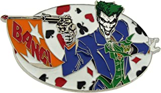 Batman Movie Joker Character Belt Buckle DC Comics Original Bang Logo Licensed