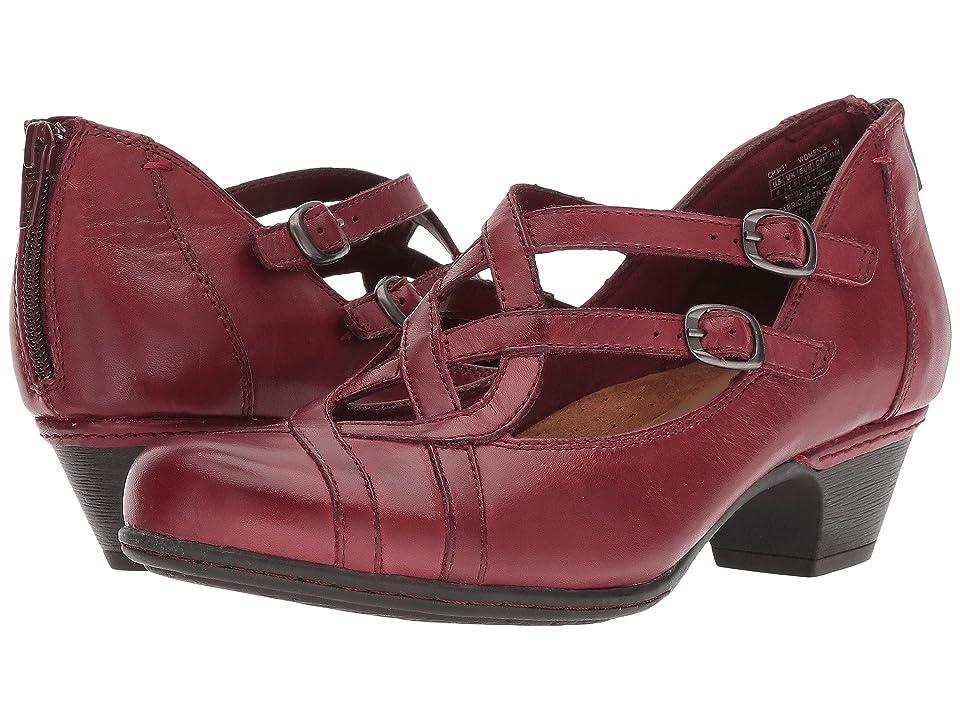 Rockport Cobb Hill Collection Abbott Curvy Shoe (Red) Women