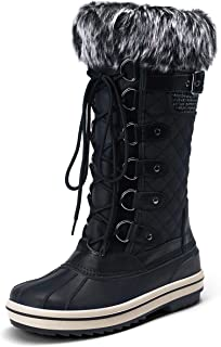 VEPOSE Women's Waterproof Snow Boots Fuzzy Insulation Knee High Mid Calf Cold Winter Shoes