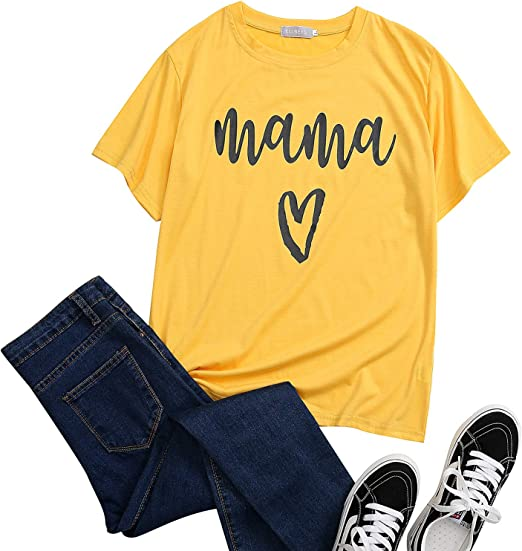 Womens Mom Life T-Shirt Funny Mama Bear Graphic Shirts