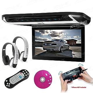 "XTRONS 10"" HD Digital TFT Monitor Car Roof Flip Down Overhead DVD Player Touch Panel Game Disc HDMI Port White IR Headphon..."