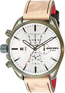 Diesel Men's 'Ms9 Chrono' Quartz Stainless Steel and Leather Casual watchMulti Color (Model: DZ4472)