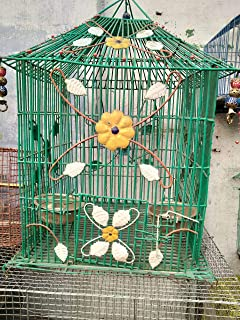 Green Bird Cage for Birds(Set of 7)