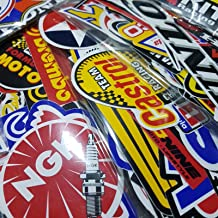 120 Pcs Racing Sticker Pack Vintage Decal Rare Original Motocross Motorcycle Car Decal Stickers