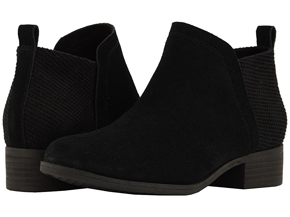 TOMS Deia (Black Suede/Textured Velour Mix) Women