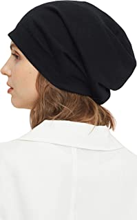 LilySilk 100% Silk Lined Beanie Hat for Women and Men, Soft Smooth Slouchy Oversized Adjustable Beanie Bonnet Cap