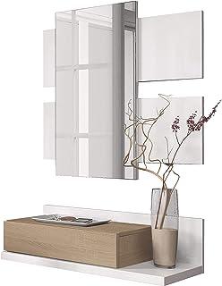 Habitdesign 0F6742A - Recibidor con cajón y Espejo, Mueble