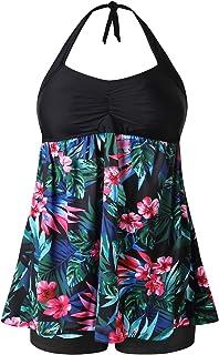 MOGGEI Women Plus Size Swimsuit for Tankini Swimwear Bathing Suit Swimwear Two Piece Design