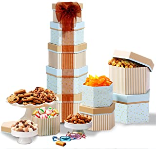 Broadway Basketeers Gift Tower with Sweets Nuts and Chocolates