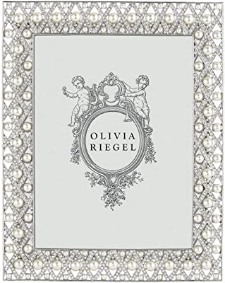 "OLIVIA RIEGEL /""Aimee/"" Bejeweled 5x7 Photo Frame New in Box"